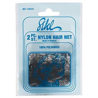 SIBEL NYLON HAIR NET FINE 2PC - DARK BROWN