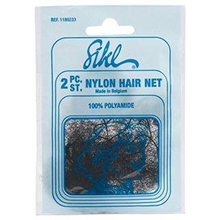 SIBEL NYLON HAIR NET FINE 2PC - MID BROWN
