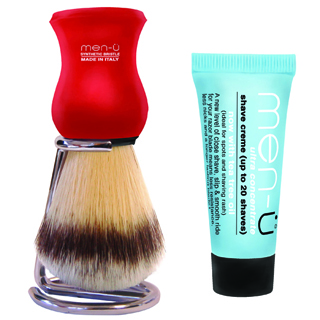 Men-U Premier Shaving Brush Red
