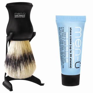 MEN-U BARBIERE SHAVING BRUSH BLACK