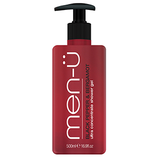 MEN-U BLACK PEPPER & BERGAMOT SHOWER GEL 500ML