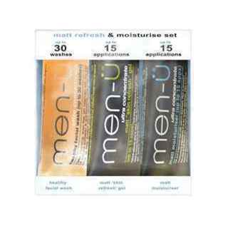 MEN-U MATT REFRESH & MOISTURE SET 3x15ML