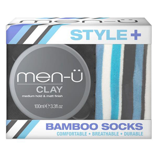 MEN-U STYLE+ CLAY 100ML WITH BAMBOO SOCKS