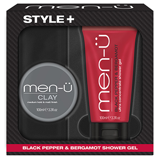 Men-U Style+ Clay 100ml (Foc Black Pepper Shower Gel 100ml)