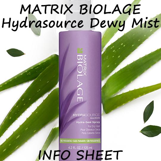 Matrix Biolage Hydrasource Dewy Mist Info