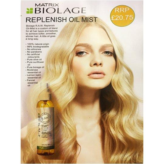 Matrix Biolage Raw Replenish Oil A4 Poster
