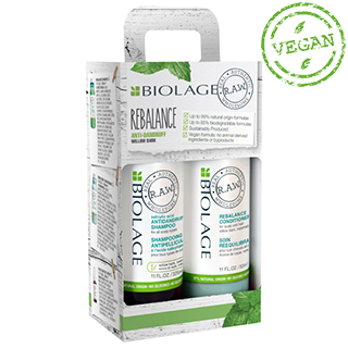 Biolage RAW Rebalance Gift Pack 2018 with Foc Mini Anti-Frizz Spray