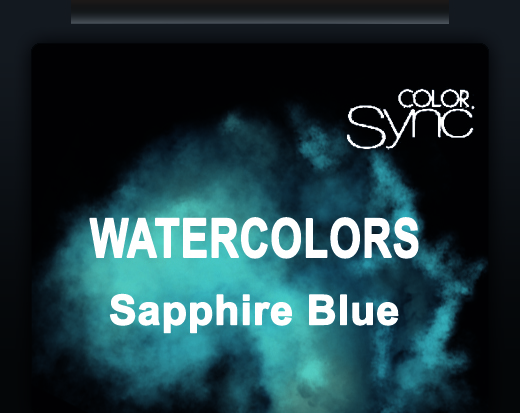 NEW COLOR SYNC WATERCOLORS SAPPHIRE BLUE