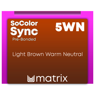 New Color Sync Pre-Bonded 5WN Light Brown Warm Neutral 90ml