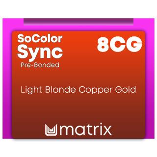 Matrix ColorSync Pre Bonded 8CG - Light Blonde Copper Gold 90ml