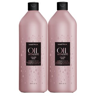VOLUME ROSE OIL WONDERS SHAMPOO & CONDITIONER LTR DUO