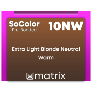 New SoColor Pre-Bonded 10Nw Extra Light Blonde Neutral Warm 90ml