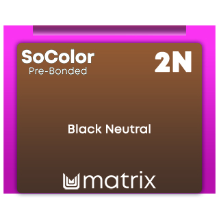 New SoColor Pre-Bonded 2N Black Neutral 90ml