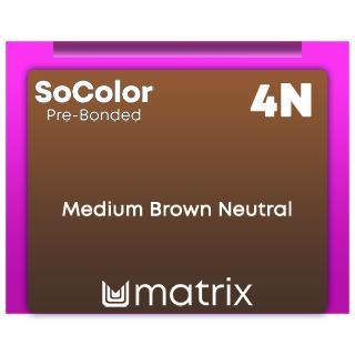 New SoColor Pre-Bonded 4N Medium Brown Neutral 90ml