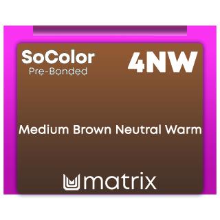 New SoColor Pre-Bonded 4NW Medium Brown Neutral Warm 90ml