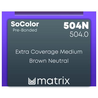 New Matrix Socolor Pre Bonded 504N 90ml