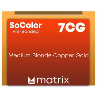 Socolor Beauty Pre Bonded 7cg Medium Blonde Copper Gold 90ml