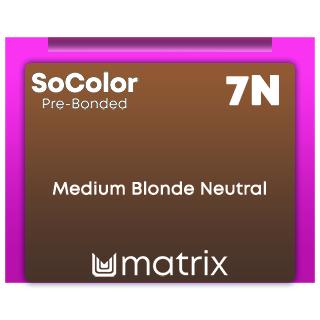 New SoColor Pre-Bonded 7N Medium Blonde Neutral 90ml