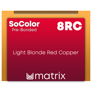 New Socolor Beauty Pre Bonded 8RC Light Blonde Red Copper 90ml