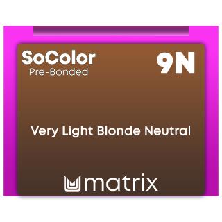 New SoColor Pre-Bonded 9N Very Light Blonde Neutral 90ml