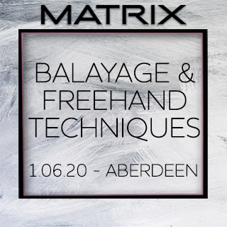 Matrix Balayage & Freehand Techniques - 1st June - Aberdeen