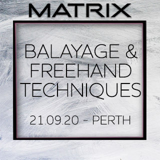 Matrix Balayage & Freehand Techniques - 21st September - Perth