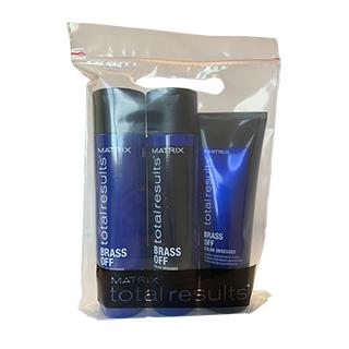 Matrix Total Results Brass Off Trio Pack - (shampoo, conditioner, mask sachet)