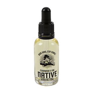 Native British Barbers - Cedarwood and Lime Beard Oil 30ml