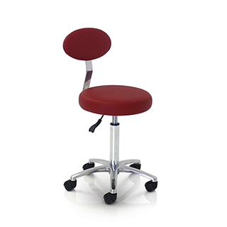 REM Cutting Therapist Stool with Backrest - Colours
