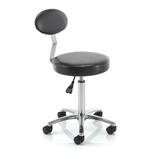 REM Cutting Therapist Stool with Backrest - Black