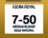 IGORA ROYAL ABSOLUTE 7-50 MEDIUM BLONDE GOLD NATURAL 60ML