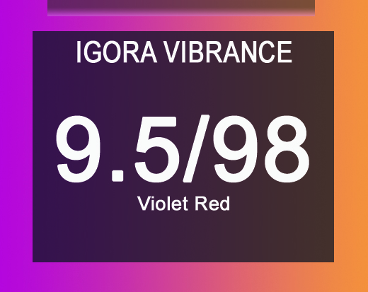 Igora Vibrance 9.5/98 Violet Red Toner 60ml
