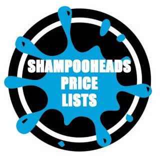 SHAMPOOHEADS RETAIL PRICE LIST 2017