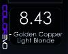 COLOREVO 8/43 GOLDEN COPPER LIGHT BLOND