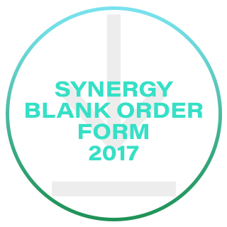 Synergy Blank Order Form 2017