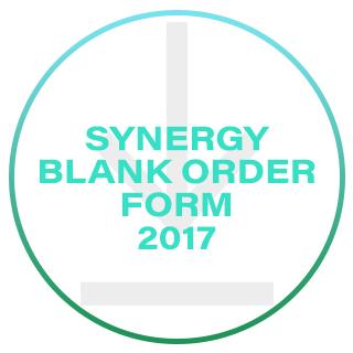 Synergy Blank Order Form 2017