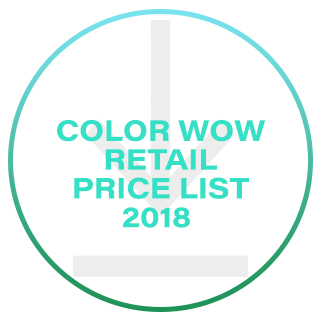 COLOR WOW RETAIL PRICE LIST 2017