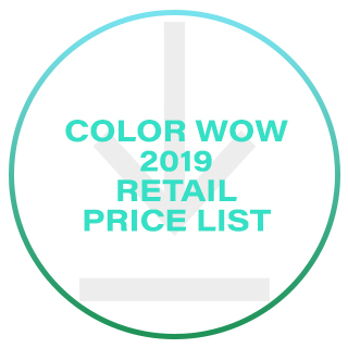 COLOR WOW RETAIL PRICE LIST 2019