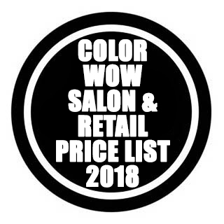 COLOR WOW SALON & RRP PRICE LIST 2017