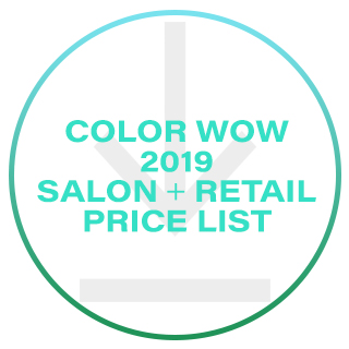 COLOR WOW SALON & RRP PRICE LIST 2019