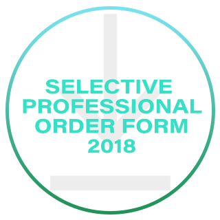 SELECTIVE PROFESSIONAL ORDER FORM 2017