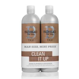 TIGI BEDHEAD FOR MEN CLEAN UP TWEEN DUO PACK