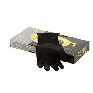 BLACK LATEX GLOVES - LARGE 20pack