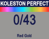 New Koleston Perfect Me+ 0/43 Red Gold 60ml