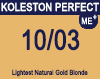 Koleston Perfect Me+ 10/03 Lightest Natural Gold Blonde 60ml