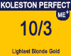 Koleston Perfect Me+ 10/3 Lightest Gold Blonde 60ml