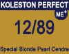 New Koleston Perfect Me+ 12/89 Special Pearl Cendre Blonde 60ml
