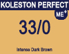 New Koleston Perfect Me+ 33/0 Dark Intense Brown 60ml