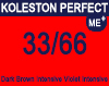 New Koleston Perfect Me+ 33/66 Dark Intense Violet Brown 60ml