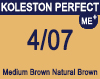 New Koleston Perfect Me+ 4/07 Medium Natural Brunette Brown 60ml